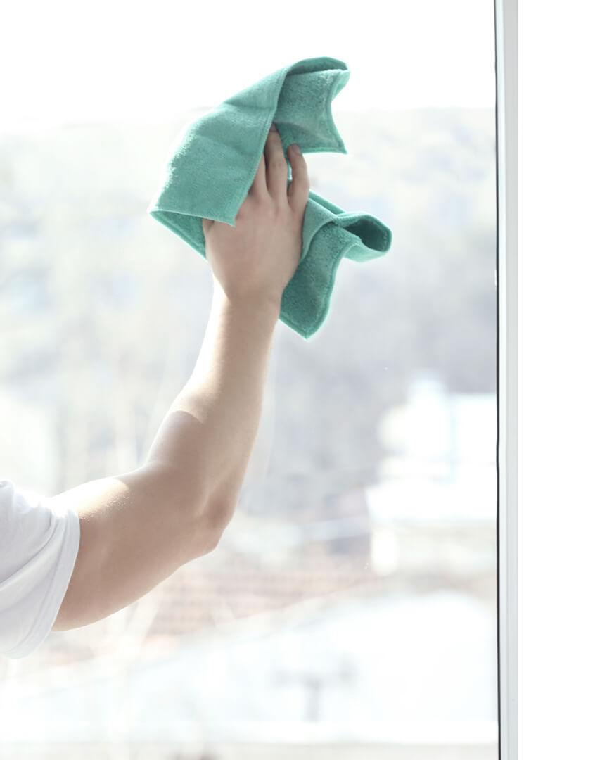 rengøring af glas