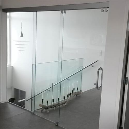 Glas skydedøre